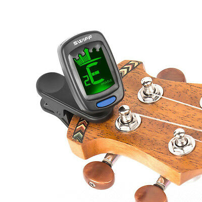 1x LCD Clip-on Electronic Digital Guitar Tuner for Chromatic Bass Violin Ukulele