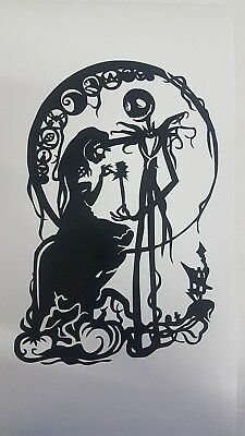 Nightmare Before Christmas Sticker Jack and Sally Vinyl Decal