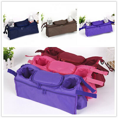 Baby Stroller Organizer Carriage Bottle Holder Bags for Pram Buggy Wheelchairs