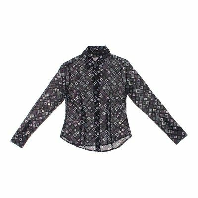 New York Company Woman S Xs Black With Flower S Blouse 9 98