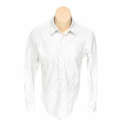 2f2af2852be4 GUESS MEN'S BUTTON-UP Long Sleeve Shirt, size XL, white, cotton ...