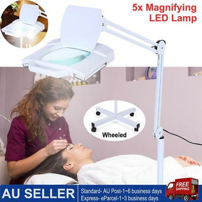 5X Magnifying Stand Lamp LED Illuminated Light Magnifier Tattoo Beauty Salon