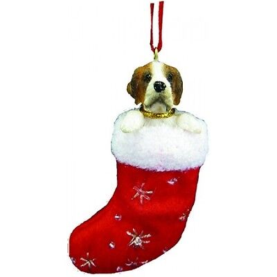 Saint Bernard Santa's Little Pals Dog Christmas Ornament