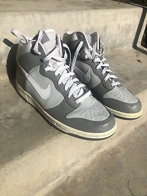 new styles f9a88 de79c Men s NIKE DUNK HI Cool Grey White High Top Sneakers Shoes Great Condition!  2005