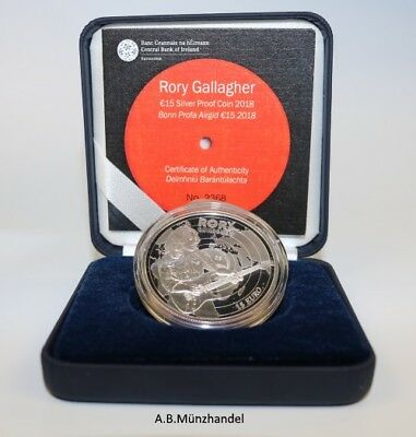 Irland 2018 15 Euro Silber - Rory Gallagher - proof PP