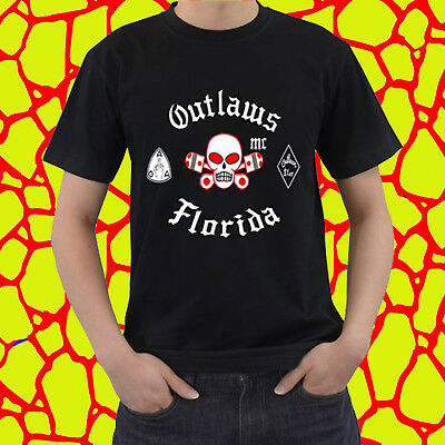 NEW TEE OUTLAWS MC Shirt Support Your Local Outlaws, black tshirt