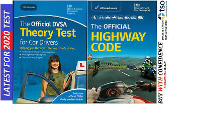 DVSA Driving Test Car Theory Book + Highway Code Book Latest Editions*thryhw