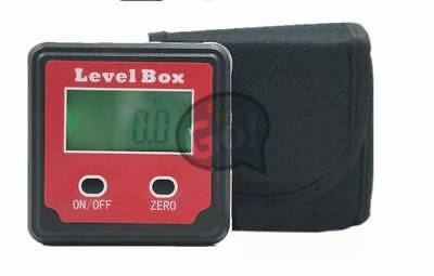 Red Magnetic Digital Inclinometer Level Box Gauge Angle Meter Finder Protractor