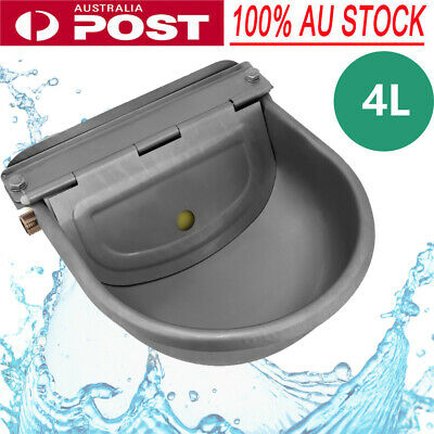 Stainless Water Trough Bowl Automatic Drinking For Dog Horse Chicken Au Stock