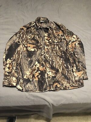 Redhead Mossy Oak Mens Large Hunting Camo Long Sleeve Button Down Shirt a6fb7b9c835