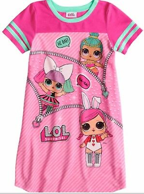 LOL Surprise Nightgown PINK PJ Pajamas L.O.L Surprise Series 3 Charm Fizz NEW