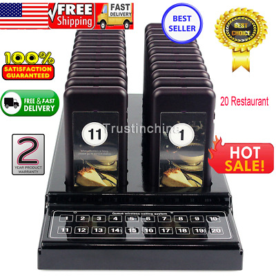 20 Restaurant Coaster Pager Guest Call Wireless Paging Queuing Calling System U