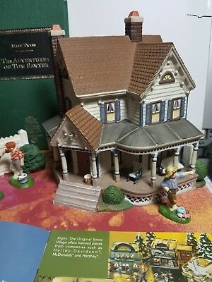 DEPT 56 AUNT POLLY'S HOUSE (THE ADVENTURES OF TOM SAWYER) -Literary Classics