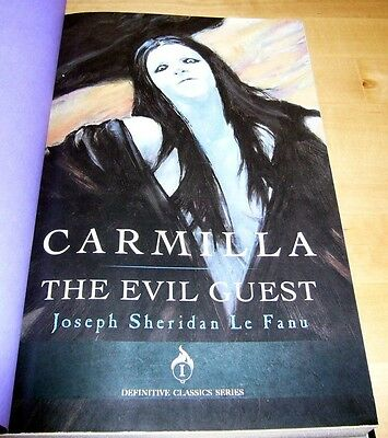 Sheridan Le Fanu CARMILLA Signed Limited Lettered Edition