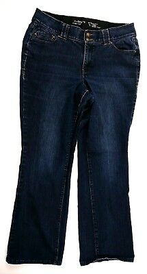 Lane Bryant Womens Jeans Size 14 Bootcut Dark Wash Stretch Denim
