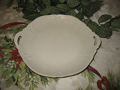 "Rosenthal Classic Sanssouci Ivory / Gold 11"" Cake Plate With Handles"