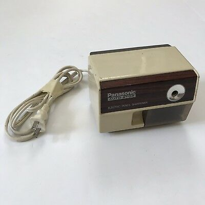 Vintage Panasonic KP 110 Auto Stop Electric Pencil Sharpener Japan Beige Brown