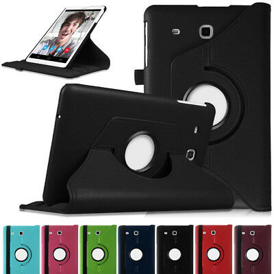 360° Rotating Leather Case Cover Skin For Samsung Galaxy Tab E SM-T113 T377 T560