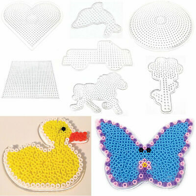 Peg Boards Suitable For Hama Beads Heart Circle Square Animals Flower 5mm Midi