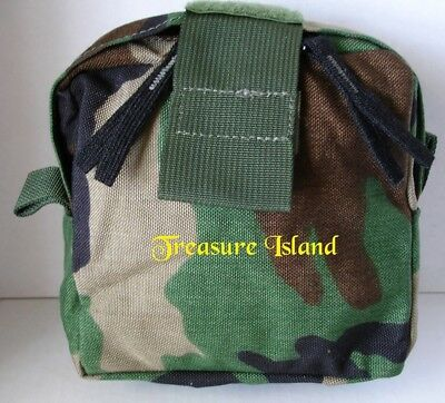 Molle II Woodland Camouflage Medic Pocket (Specialty Defense Systems), New
