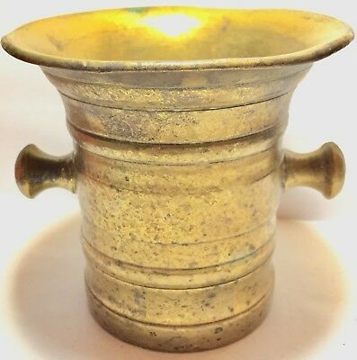 1700's 1800's RaRe ANTIQUE Vintage BRASS MORTAR for PESTLE Apothecary Pharmacy