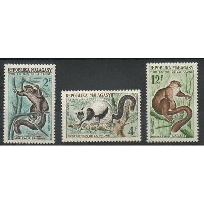 Madagascar - 1961- No 357/359 - Animaux