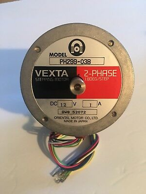 Vexta PH299-03B Stepping Motor 12VDC 1A, 2-Phase 1.8 Degree/Step, BRAND NEW !