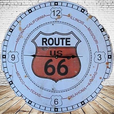 Wall Clock Route 66 Battery Iron Vintage Gift Aesthetics Rarity One Jumper