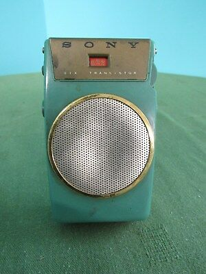 Vintage Rare Sony TR-610 - Green Six Transistor Radio Pocket Portable