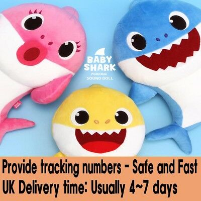 PINKFONG SHARK Family (Baby Mother Father) Sound Plush Doll - One Korean Song