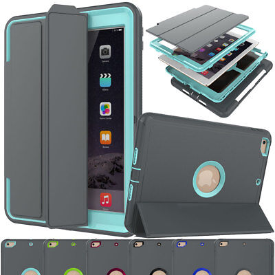 Heavy Duty Smart Cover Shockproof Case For Apple iPad 9.7 2018 6th Generation