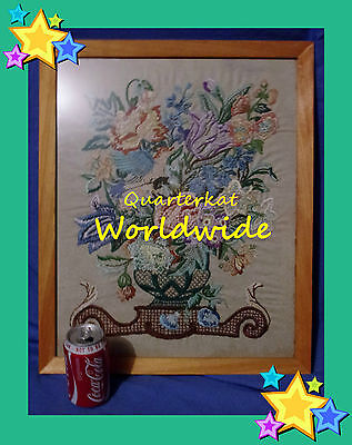 Vintage Pictures Embroidery Needlework Sewing Birds Flowers Tapestry Tapestries