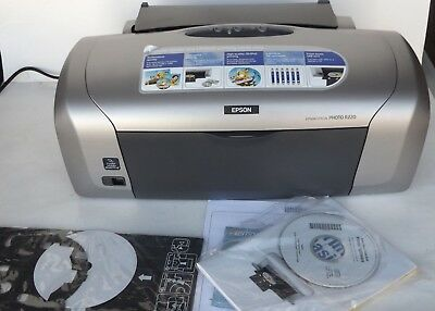Epson Stylus Photo R320 6 Color Ink Printer Prints Directly To Cd