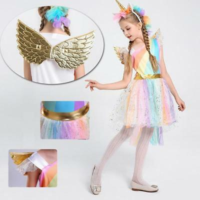 Kids Girls Halloween Costume Unicorn Tutu FANCY DRESS Party Cosplay Outfit Gift