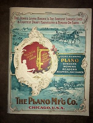 Original 1898 Plano Mfg. Co. Binders, Mowers & Reapers Catalog - Mint Condition