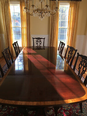 Mahogany Dining Table and 8 Chairs by Hickory Chair--Pristine Condition.