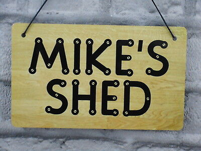Personalised Man Cave Shed Sign Metal Plaque WEATHERPROOF Garage Workshop