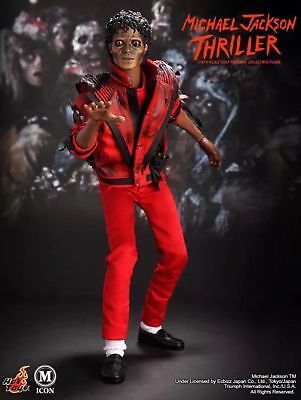 """Michael Jackson 1/6 action figure HOT TOYS Thriller jacket 12"""" DOLL collectible"""