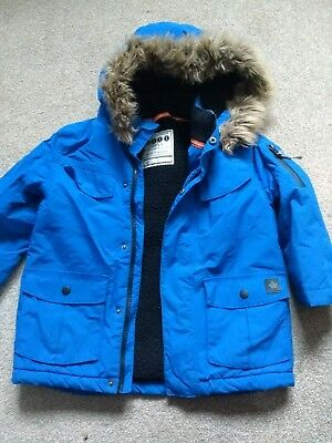 a2bbbe18d BOYS NEXT NAVY Winter Jacket Parka  School Coat Age 4-5 Years - Fab ...