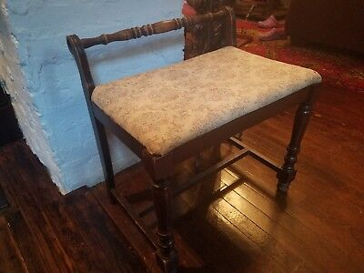 antique victorian bench/stool