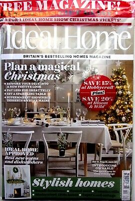 Ideal Home Magazine December 2018 Free Christmas Gift Guide Mag ~ New ~