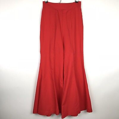 1970's Vintage Bell Bottoms Size Small Medium Red Flare High Rise Hippie