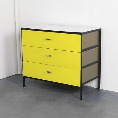 Yellow Steel Frame Dresser by George Nelson for Herman Miller
