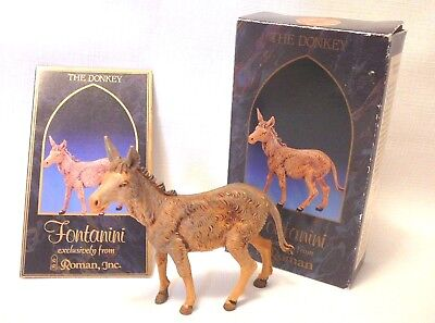 "STANDING DONKEY Fontanini Italy by Roman Heirloom Nativity Stable 5"" Collection"