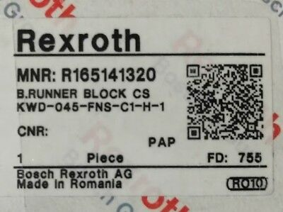 Bosch Rexroth R165141320 Ball Rail Runner Block CS Replaces R320103184