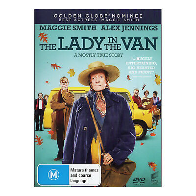 The Lady in the Van DVD Brand New Region 4 Aust. Maggie Smith, Alex Jennings