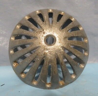 Vintage Industrial Machine Age Aluminum Dome Drain Cap Steampunk Art Lamp Part
