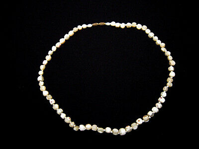 OUTSTANDING VINTAGE 1970's MOTHER OF PEARL BEADS NECKLACE!!!