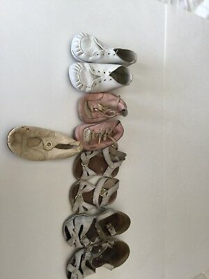 Vintage Baby Shoes Lot of 4ea. Pairs