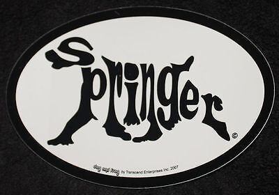 Springer Spaniel Oval Euro Style Car Dog Decal Sticker